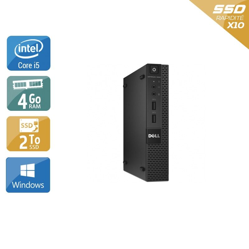 Dell Optiplex 3020M Micro i5 4Go RAM 2To SSD Windows 10