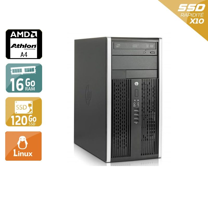 HP Compaq Pro 6305 Tower AMD A4 16Go RAM 120Go SSD Linux