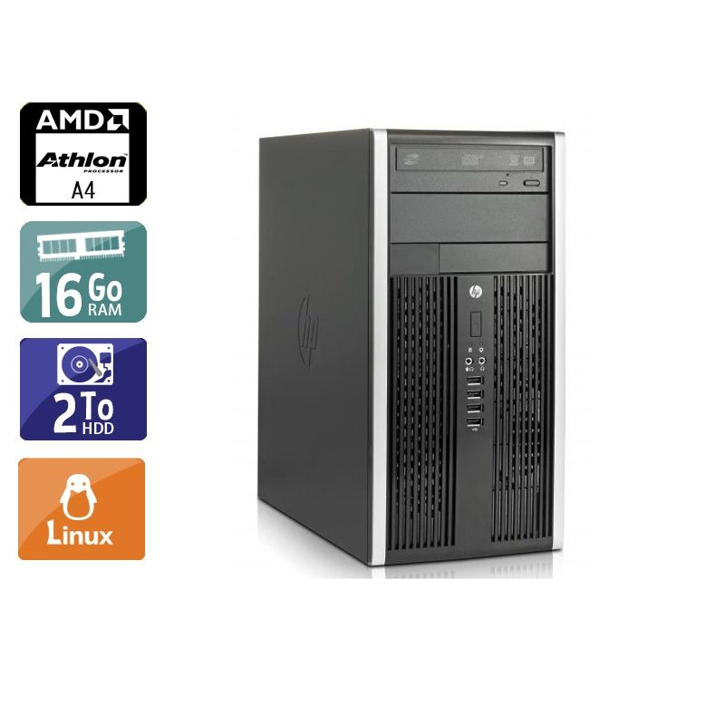 HP Compaq Pro 6305 Tower AMD A4 16Go RAM 2To HDD Linux