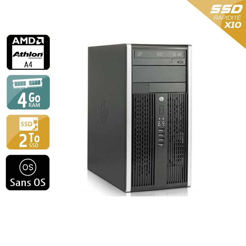 HP Compaq Pro 6305 Tower AMD A4 4Go RAM 2To SSD Sans OS