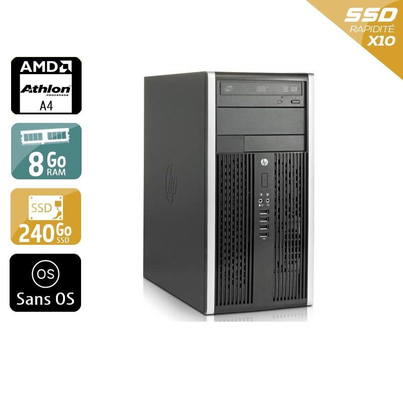 HP Compaq Pro 6305 Tower AMD A4 8Go RAM 240Go SSD Sans OS