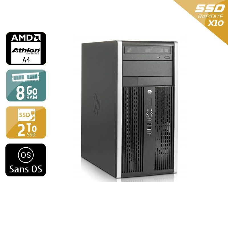 HP Compaq Pro 6305 Tower AMD A4 8Go RAM 2To SSD Sans OS