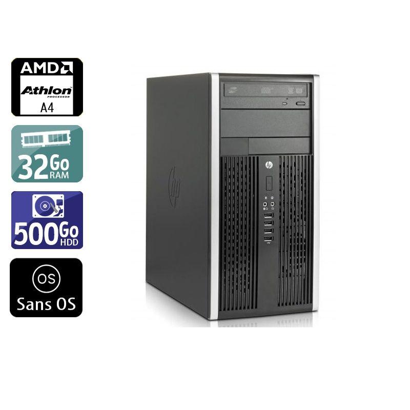 HP Compaq Pro 6305 Tower AMD A4 32Go RAM 500Go HDD Sans OS