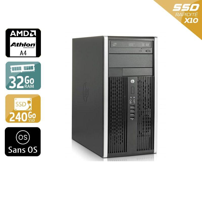 HP Compaq Pro 6305 Tower AMD A4 32Go RAM 240Go SSD Sans OS
