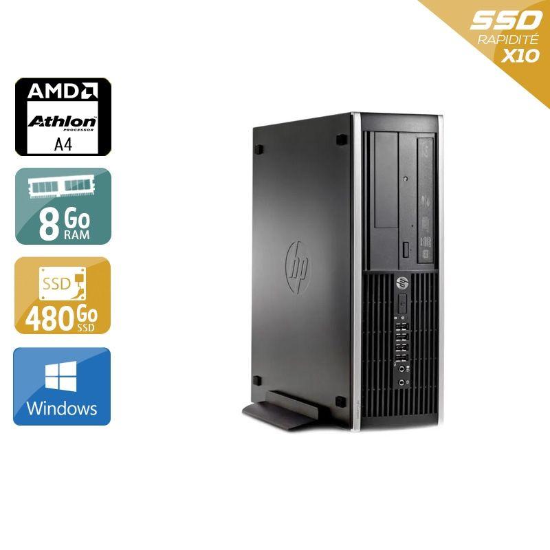 HP Compaq Pro 6305 SFF AMD A4 8Go RAM 480Go SSD Windows 10