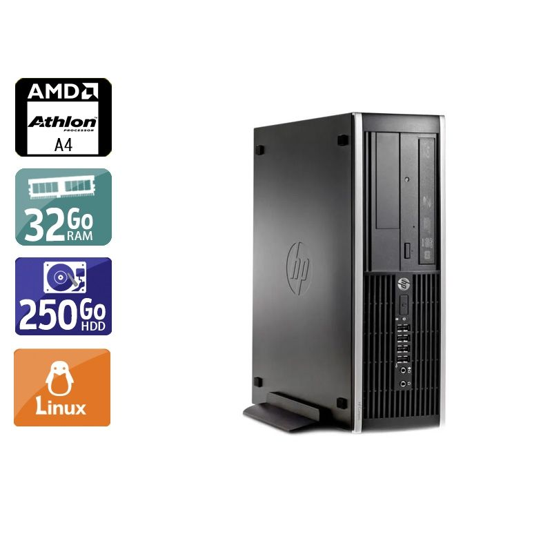 HP Compaq Pro 6305 SFF AMD A4 32Go RAM 250Go HDD Linux