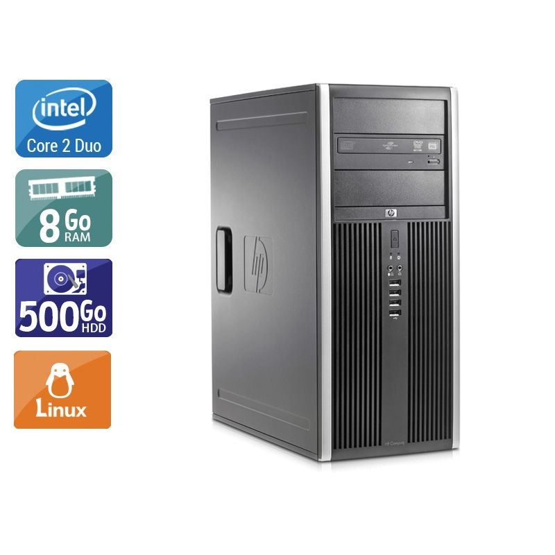 HP Compaq Elite 8000 Tower Core 2 Duo 8Go RAM 250Go HDD Linux
