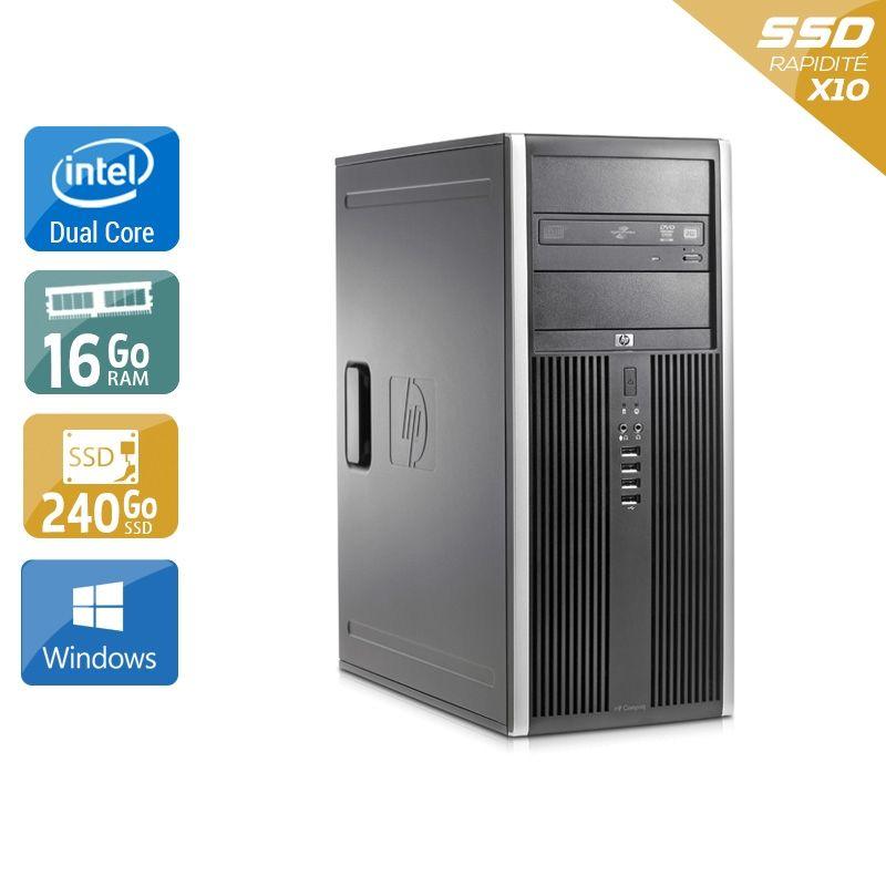 HP Compaq Elite 8000 Tower Dual Core 16Go RAM 240Go SSD Windows 10