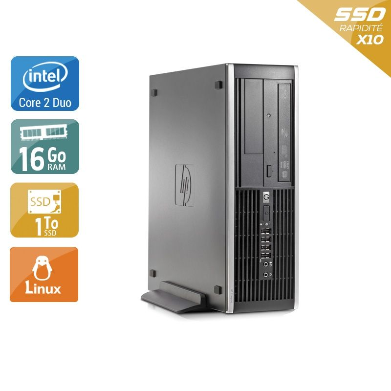 HP Compaq Elite 8000 SFF Core 2 Duo 16Go RAM 2To SSD Linux