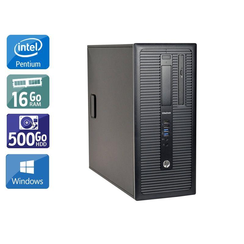 HP Compaq 280 G1 Tower Pentium G Dual Core 16Go RAM 500Go HDD Windows 10