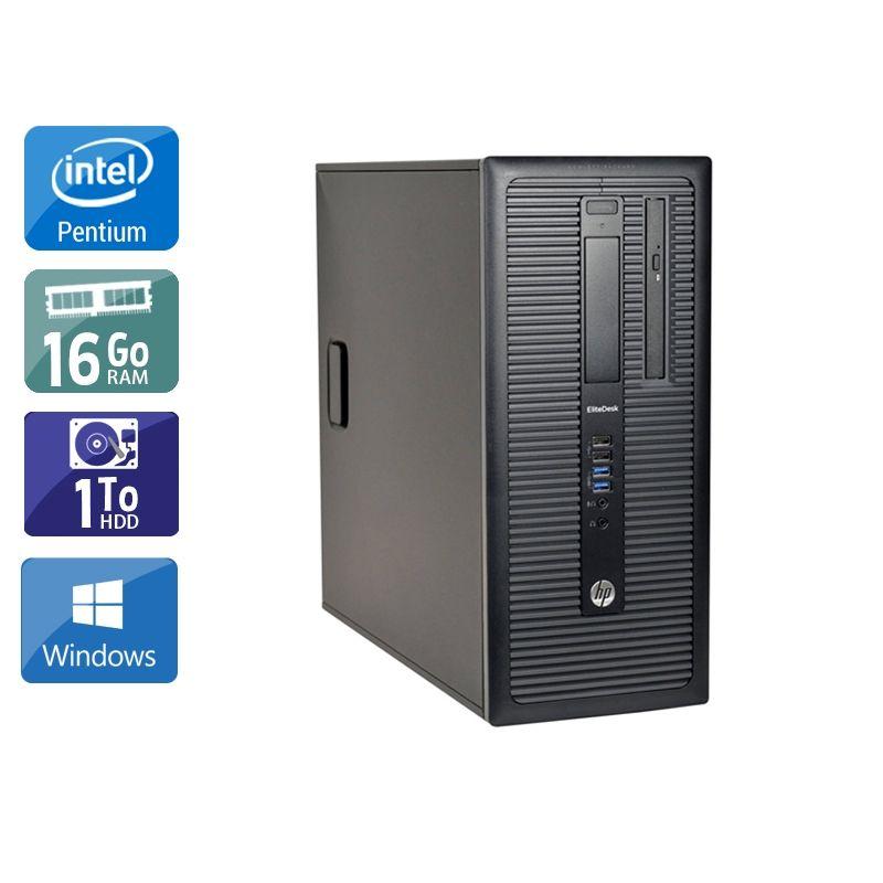 HP Compaq 280 G1 Tower Pentium G Dual Core 16Go RAM 1To HDD Windows 10