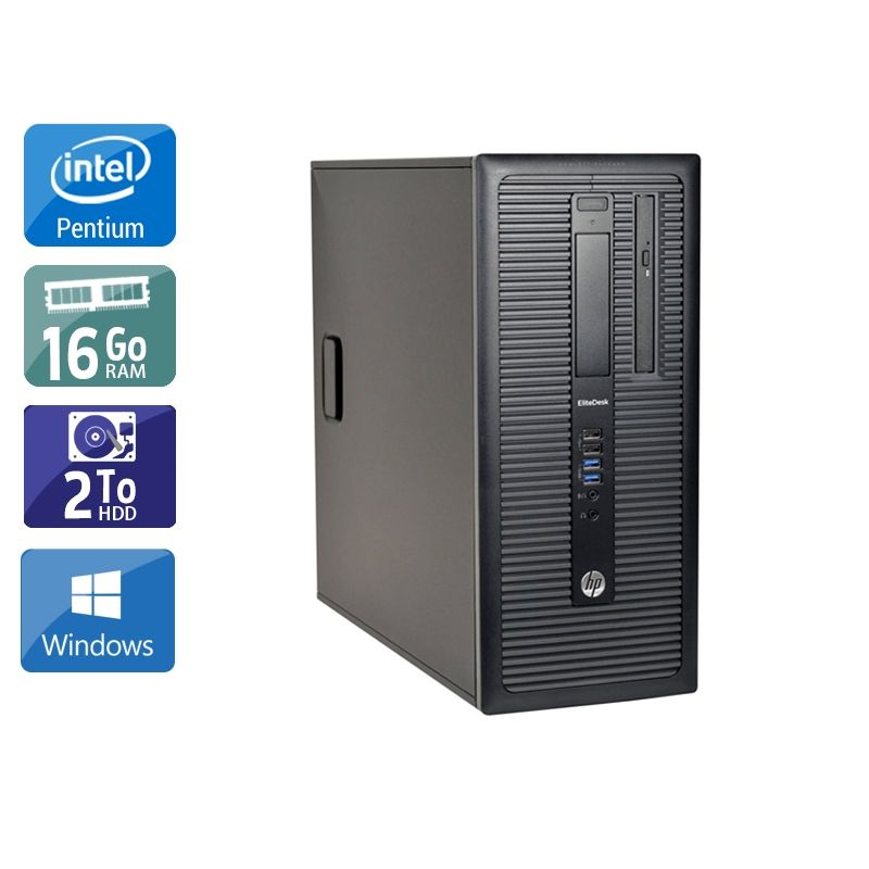 HP Compaq 280 G1 Tower Pentium G Dual Core 16Go RAM 2To HDD Windows 10