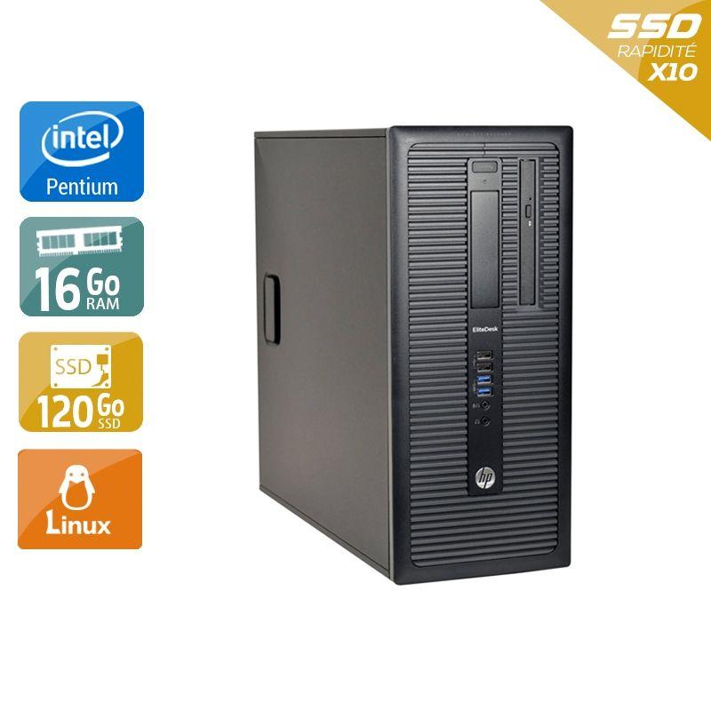 HP Compaq 280 G1 Tower Pentium G Dual Core 16Go RAM 120Go SSD Linux