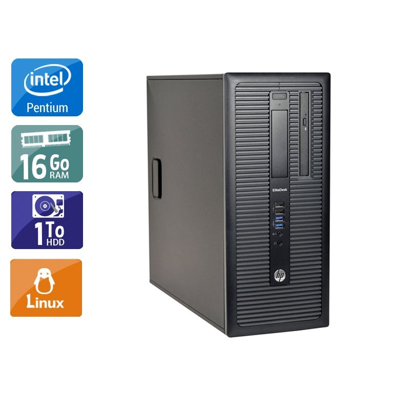 HP Compaq 280 G1 Tower Pentium G Dual Core 16Go RAM 1To HDD Linux