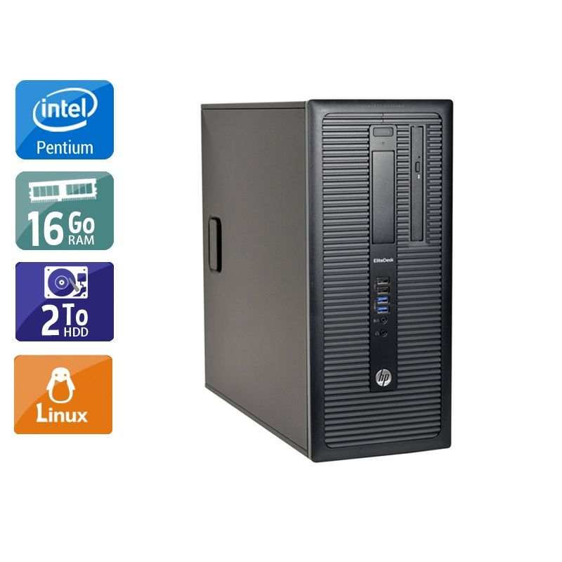 HP Compaq 280 G1 Tower Pentium G Dual Core 16Go RAM 2To HDD Linux
