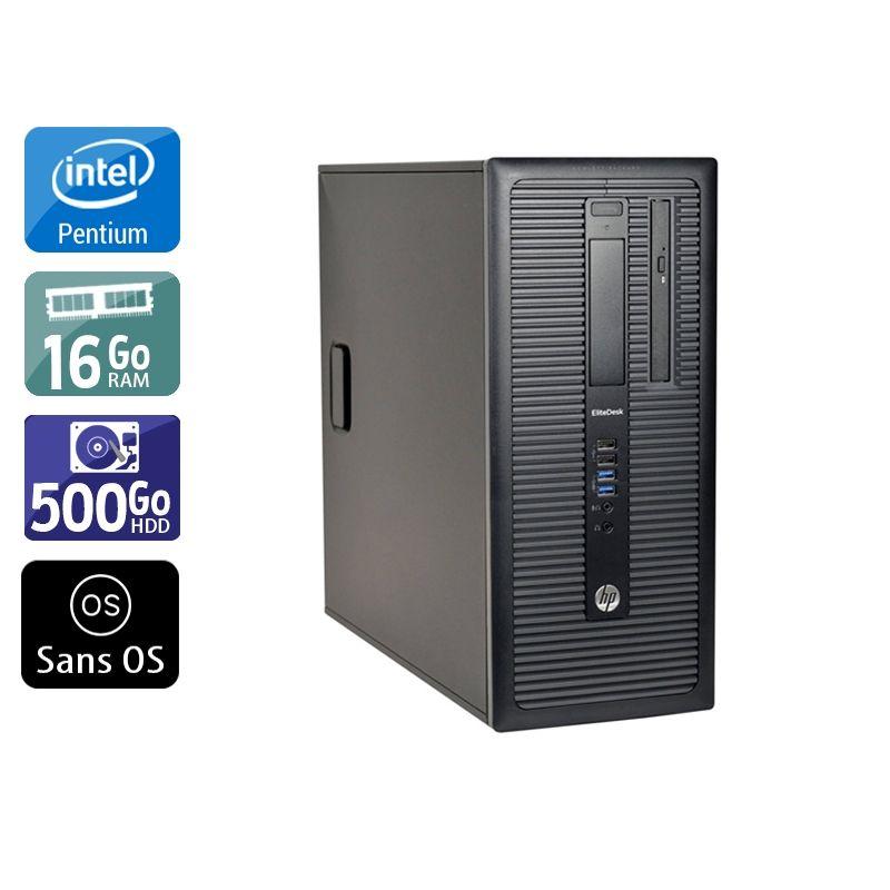 HP Compaq 280 G1 Tower Pentium G Dual Core 16Go RAM 500Go HDD Sans OS
