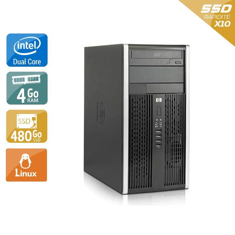 HP Compaq Pro 6000 Tower Dual Core 4Go RAM 480Go SSD Linux