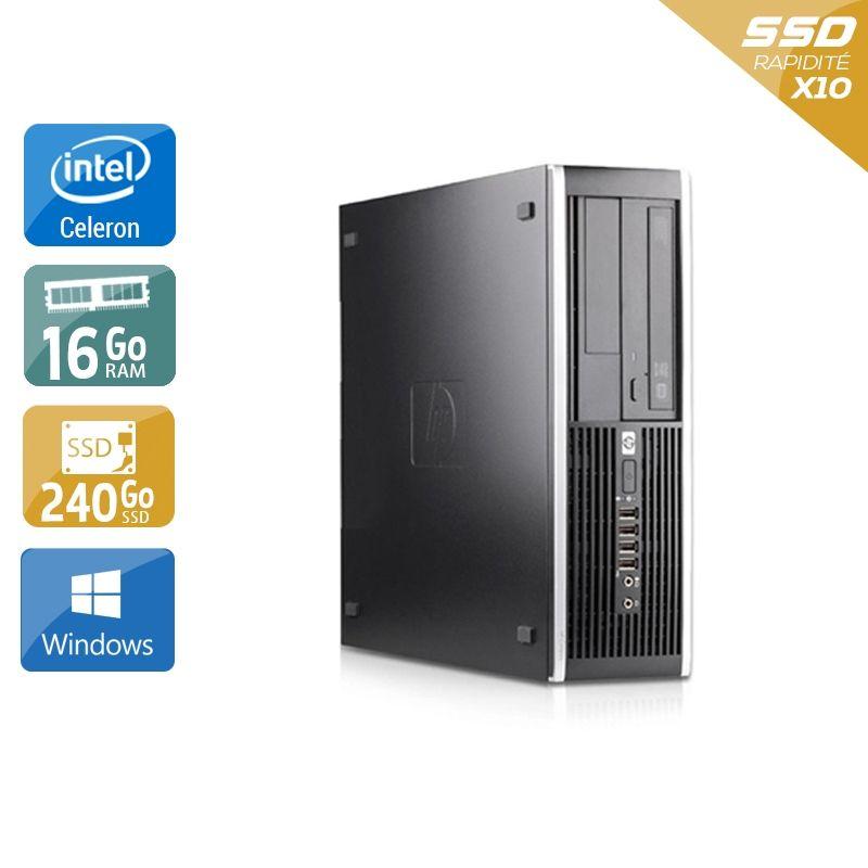 HP Compaq Pro 6000 SFF Celeron Dual Core 16Go RAM 240Go SSD Windows 10
