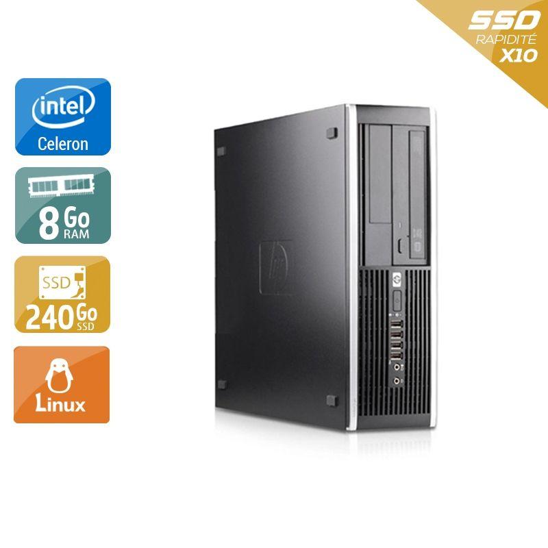 HP Compaq Pro 6000 SFF Celeron Dual Core 8Go RAM 240Go SSD Linux