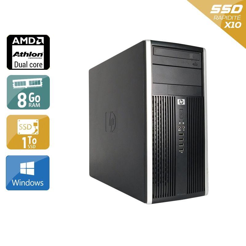 HP Compaq Pro 6005 Tower AMD Athlon Dual Core 8Go RAM 1To SSD Windows 10