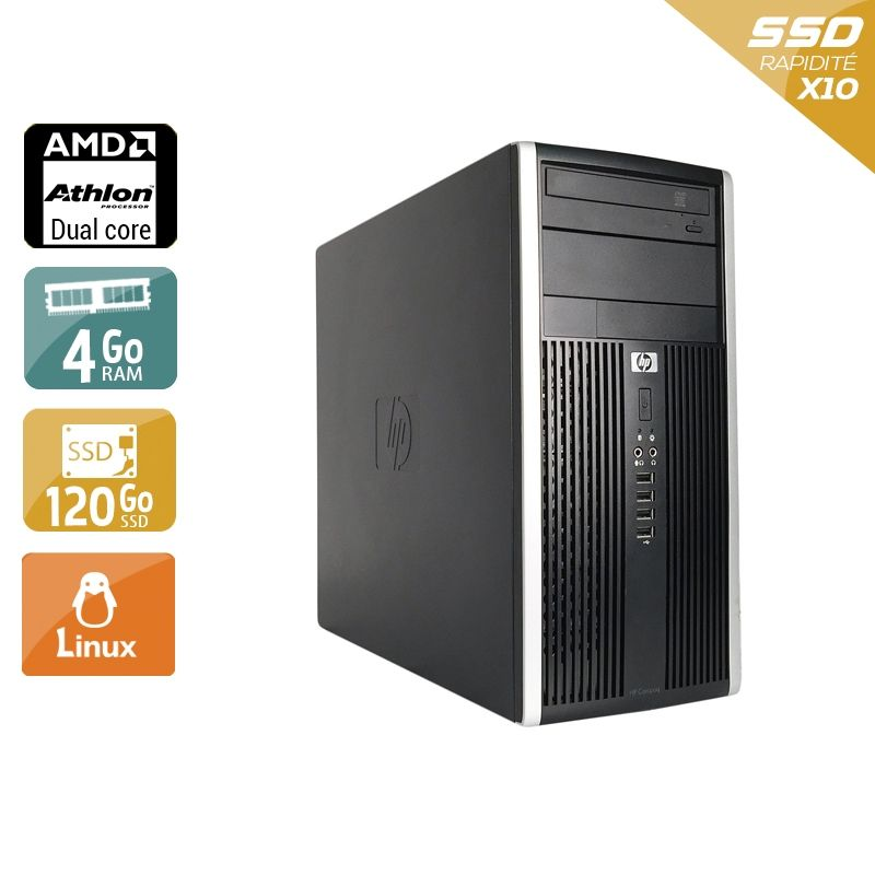 HP Compaq Pro 6005 Tower AMD Athlon Dual Core 4Go RAM 120Go SSD Linux