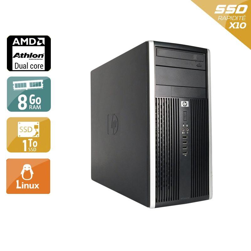 HP Compaq Pro 6005 Tower AMD Athlon Dual Core 8Go RAM 1To SSD Linux
