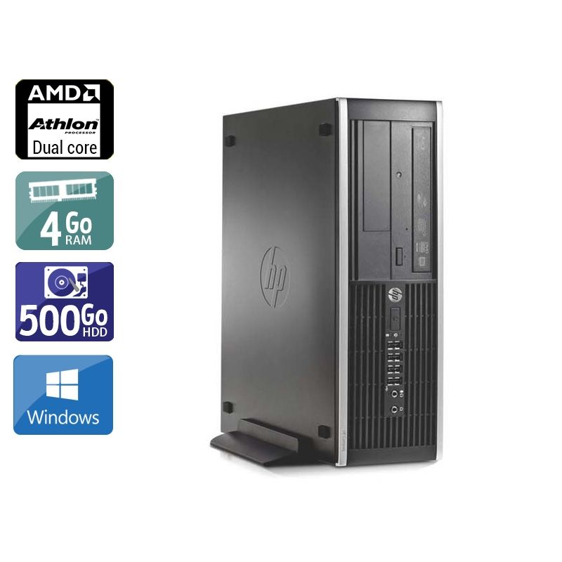HP Compaq Pro 6005 SFF AMD Athlon Dual Core 4Go RAM 500Go HDD Windows 10