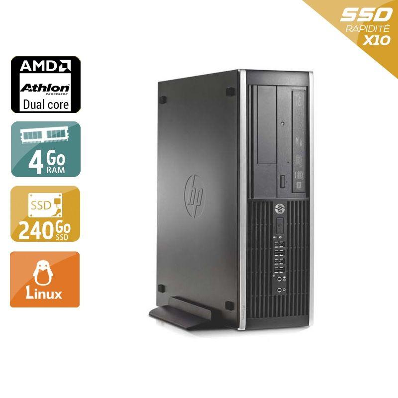 HP Compaq Pro 6005 SFF AMD Athlon Dual Core 4Go RAM 240Go SSD Linux