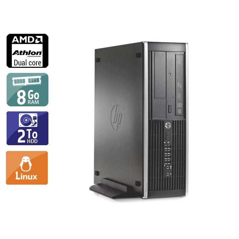 HP Compaq Pro 6005 SFF AMD Athlon Dual Core 8Go RAM 2To HDD Linux