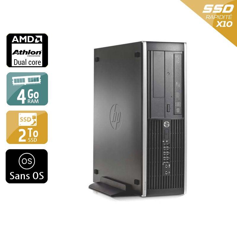 HP Compaq Pro 6005 SFF AMD Athlon Dual Core 4Go RAM 2To SSD Sans OS
