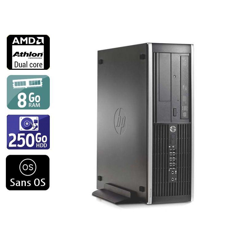 HP Compaq Pro 6005 SFF AMD Athlon Dual Core 8Go RAM 250Go HDD Sans OS