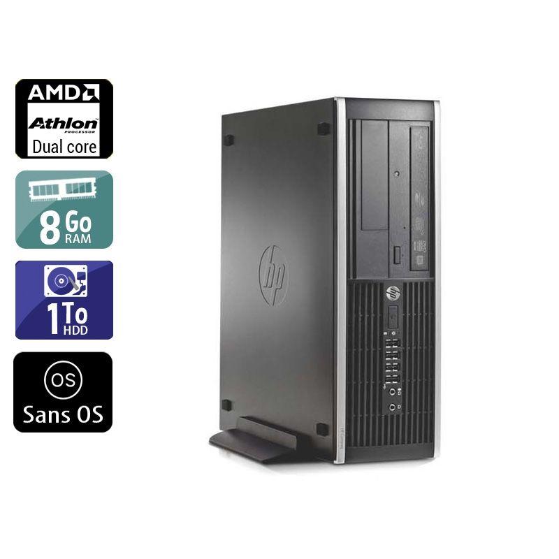 HP Compaq Pro 6005 SFF AMD Athlon Dual Core 8Go RAM 1To HDD Sans OS