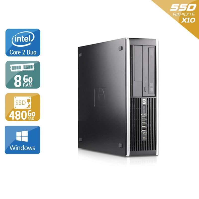 HP Compaq Pro 6000 SFF Core 2 Duo 8Go RAM 480Go SSD Windows 10
