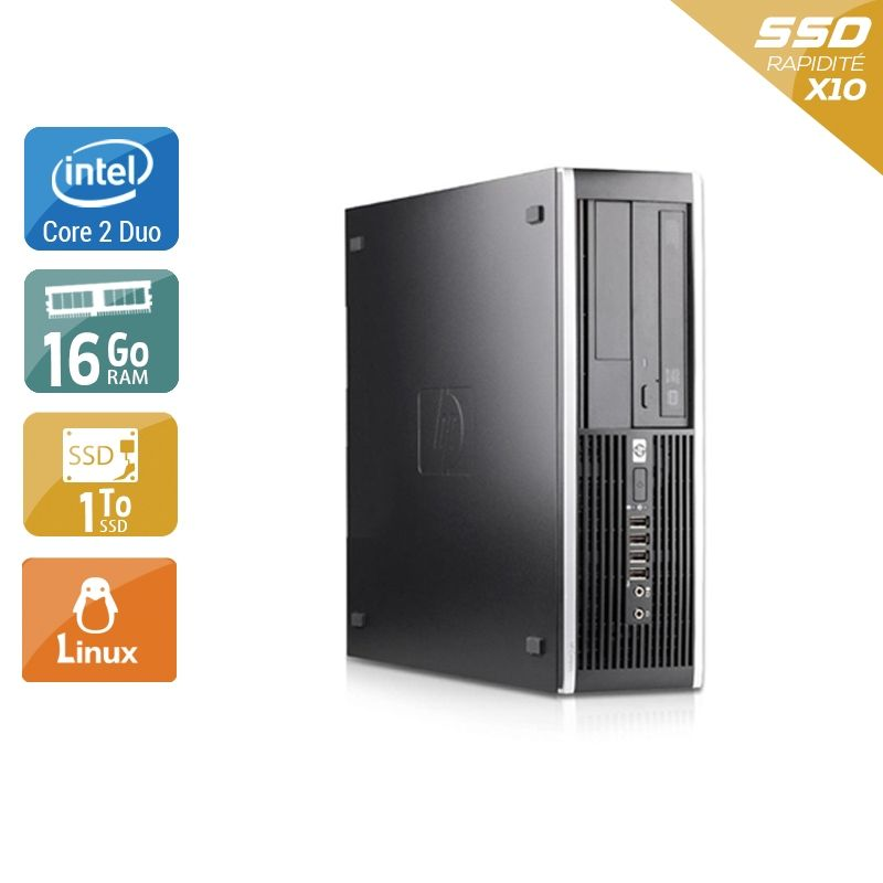 HP Compaq Pro 6000 SFF Core 2 Duo 16Go RAM 1To SSD Linux
