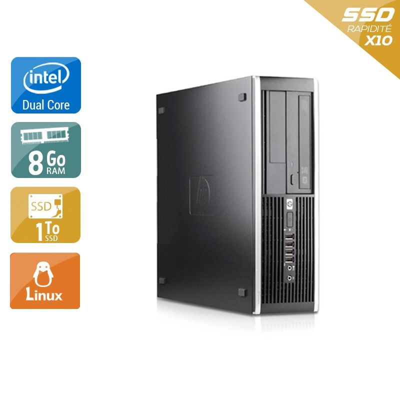 HP Compaq Pro 6000 SFF Dual Core 8Go RAM 2To SSD Linux