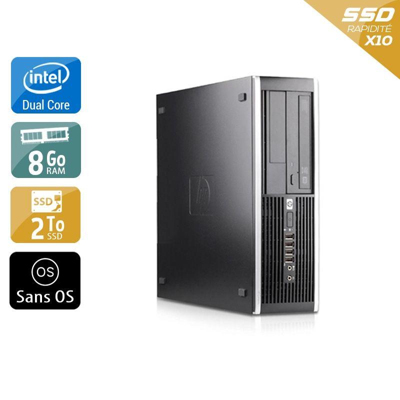 HP Compaq Pro 6000 SFF Dual Core 8Go RAM 2To SSD Sans OS