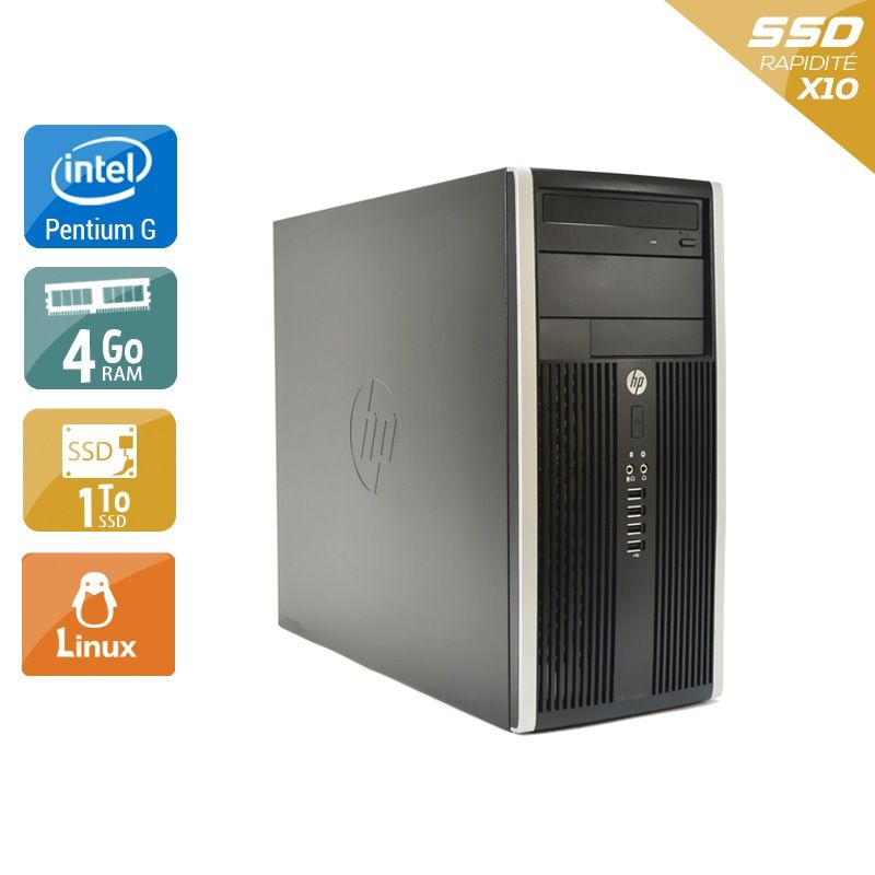 HP Compaq Pro 6200 Tower Pentium G Dual Core 4Go RAM 1To SSD Linux
