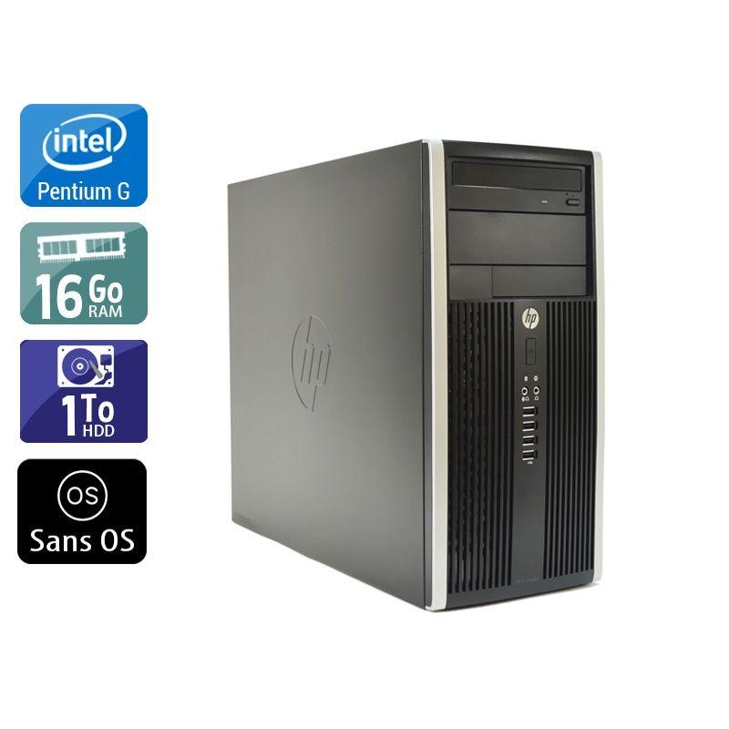 HP Compaq Pro 6200 Tower Pentium G Dual Core 16Go RAM 1To HDD Sans OS