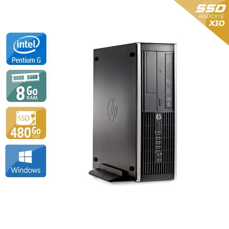 HP Compaq Pro 6200 SFF Pentium G Dual Core 8Go RAM 480Go SSD Windows 10