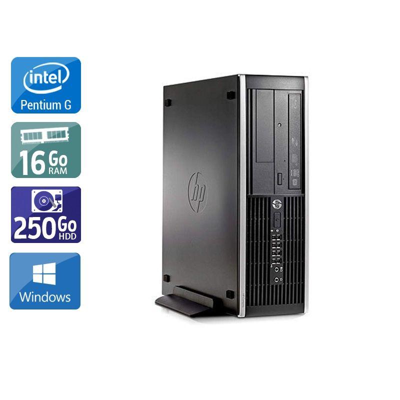 HP Compaq Pro 6200 SFF Pentium G Dual Core 16Go RAM 250Go HDD Windows 10