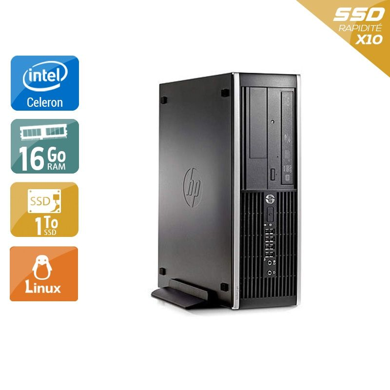 HP Compaq Pro 6300 SFF Celeron Dual Core 16Go RAM 2To SSD Linux