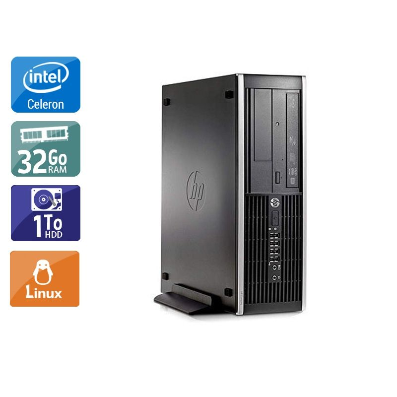 HP Compaq Pro 6300 SFF Celeron Dual Core 32Go RAM 1To HDD Linux