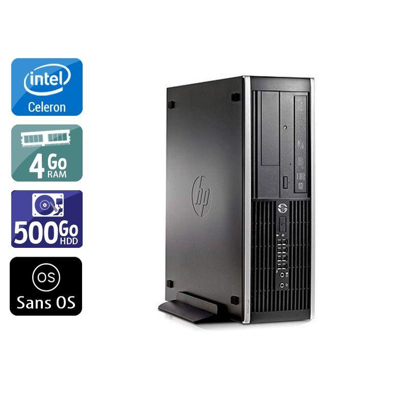 HP Compaq Pro 6300 SFF Celeron Dual Core 4Go RAM 500Go HDD Sans OS