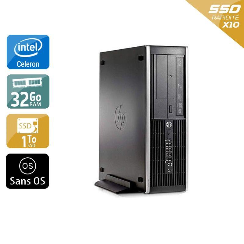 HP Compaq Pro 6300 SFF Celeron Dual Core 32Go RAM 1To SSD Sans OS