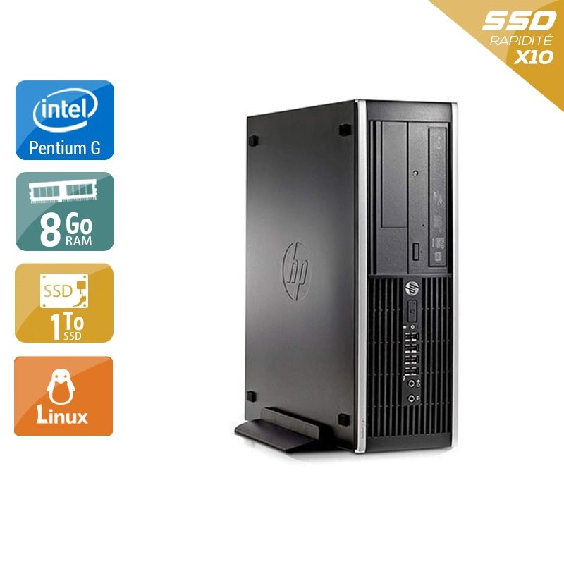 HP Compaq Pro 6300 SFF Pentium G Dual Core 8Go RAM 1To SSD Linux