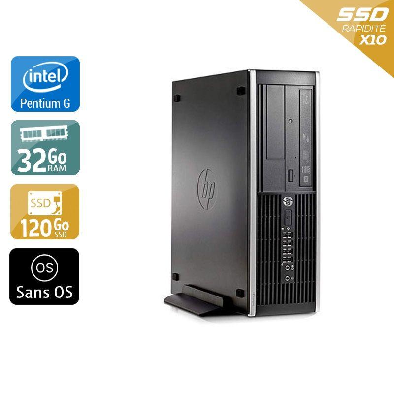 HP Compaq Pro 6300 SFF Pentium G Dual Core 32Go RAM 120Go SSD Sans OS