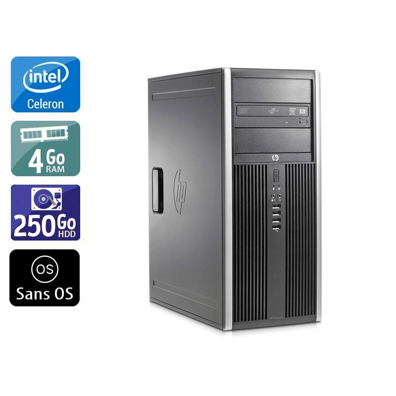HP Compaq Elite 8200 Tower Celeron Dual Core 4Go RAM 250Go HDD Sans OS