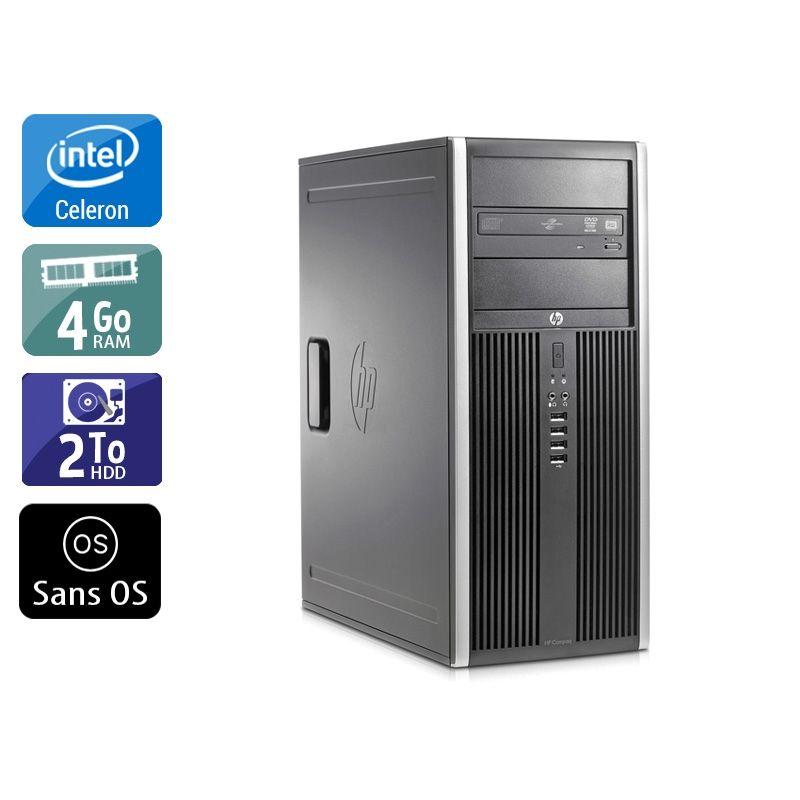 HP Compaq Elite 8200 Tower Celeron Dual Core 4Go RAM 2To HDD Sans OS