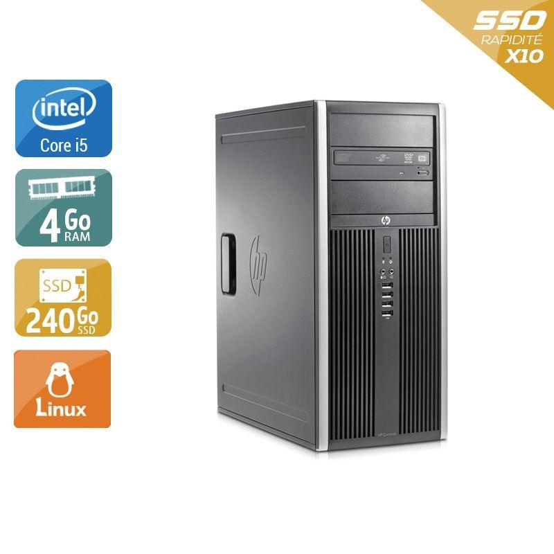 HP Compaq Elite 8200 Tower i5 4Go RAM 240Go SSD Linux