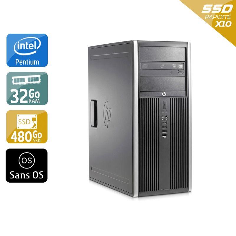 HP Compaq Elite 8200 Tower Pentium G Dual Core 32Go RAM 480Go SSD Sans OS